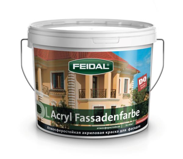 Акриловая фасадная краска FEIDAL Acryl Fassadenfarbe супербелая