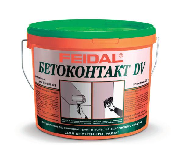 Адгезионный грунт FEIDAL BETOKONTAKT DV для внутренних работ
