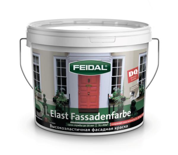 """Высокоэластичная фасадная краска FEIDAL Fassadenfarbe """"ЭЛАСТ"""""""