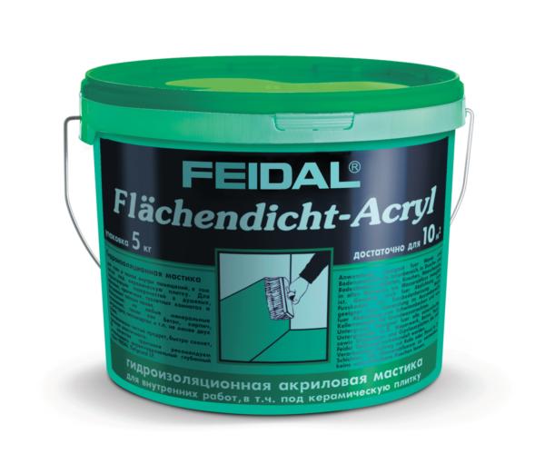 Акриловая гидроизоляционная мастика FEIDAL Acryl Flaechendicht