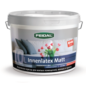 Латексная краска для стен  стойкая к мытью FEIDAL Innenlatex Matt супербелая