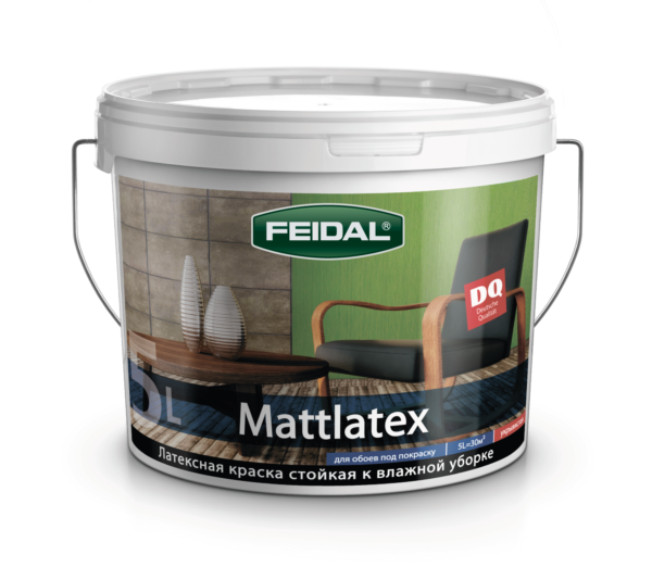 Краска для потолков и стен FEIDAL Mattlatex