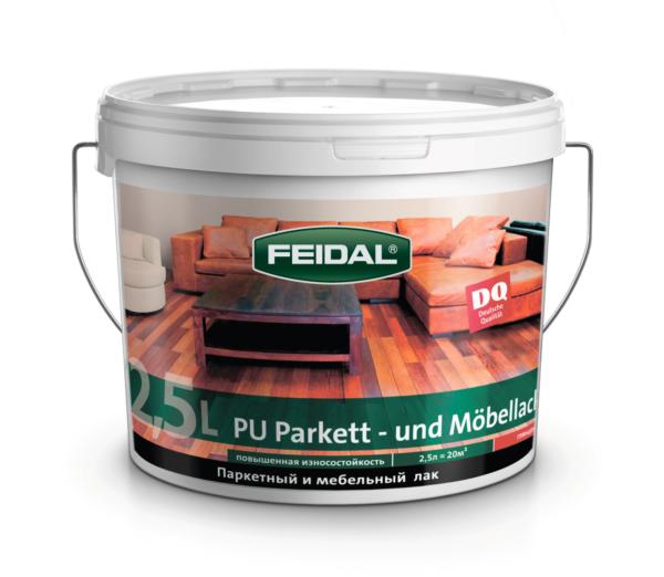 Лак паркетный и мебельный FEIDAL PU - Parket und Moebellack полуматовый