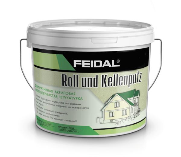 Декоративная штукатурка под валик и шпатель FEIDAL Roll-und Kellenputz
