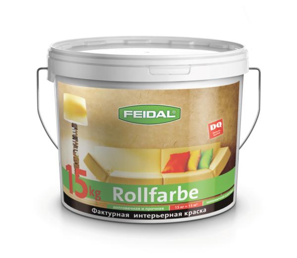 Фактурная краска для внутренних работ FEIDAL Rollfarbe