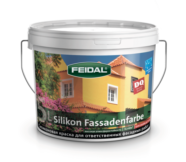 Силиконовая фасадная краска FEIDAL Silikon Fassadenfarbe