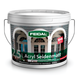 Эмаль матовая акриловая FEIDAL Acryl Seidenmatt