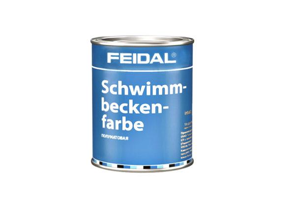 Краска хлоркаучуковая FEIDAL Schwimmbeckenfarbe