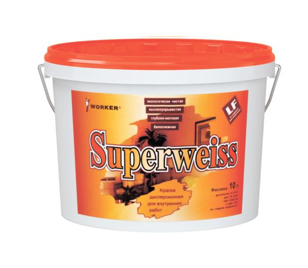 Краска влагостойкая WORKER Superweiss
