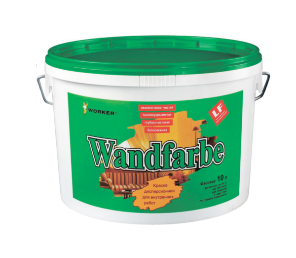 Краска для стен и потолков WORKER Wandfarbe