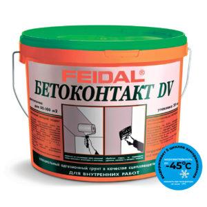 Адгезионный грунт FEIDAL BETOKONTAKT DV для внутренних работ морозостойкий