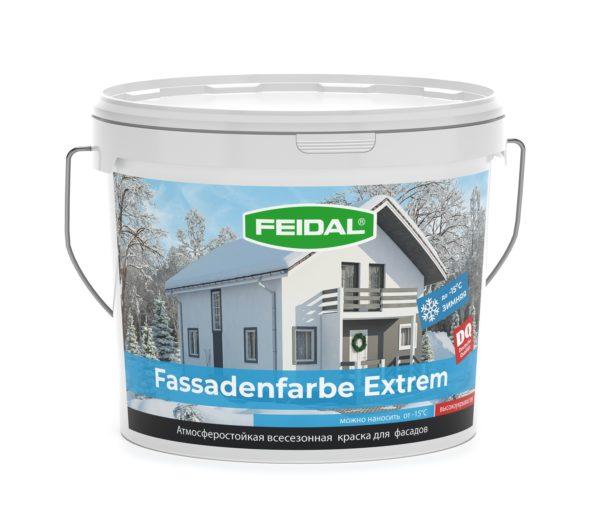 Фасадная всесезонная краска FEIDAL Fassadenfarbe Extrem